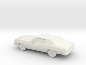 1/64 1974 Ford Torino in White Natural Versatile Plastic