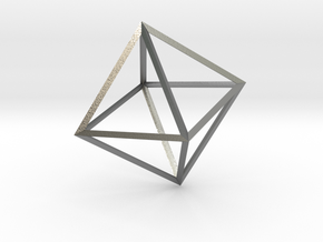 Math Art - Double Tetrahedron  Pendant in Natural Silver