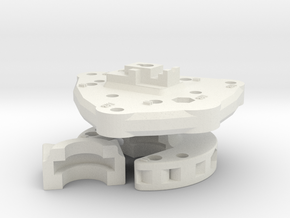 Clamp And Base Plate in White Strong & Flexible