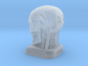 Small Desktop Decoration - T800 Skull in Smooth Fine Detail Plastic