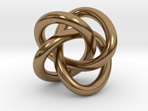 Math Art - (4,3) Torus Knot  Pendant in Natural Brass
