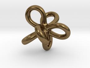 Math Art - Entangled Infinities Pendant in Natural Bronze