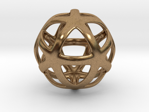 Math Art - Star Ball Pendant in Natural Brass