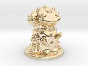Fungus Monster in 14k Gold Plated Brass