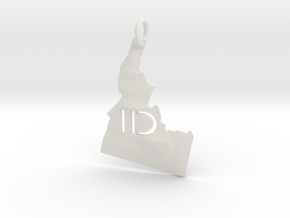 Idaho State Pendant in White Strong & Flexible