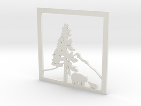 Bears Under The Mountain Bookend in White Natural Versatile Plastic
