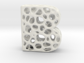 Voronoi Letter ( alphabet ) B in White Strong & Flexible