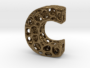 Voronoi Letter ( alphabet ) C in Natural Bronze