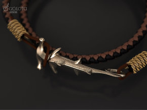 Hammerhead Shark bracelet hook in Polished Gold Steel