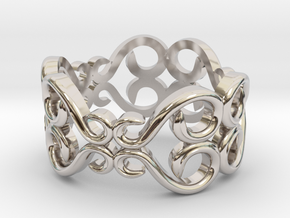 CODE: RNG9504 in Rhodium Plated