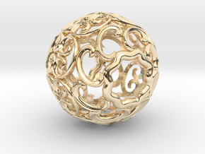 BEAD-01 in 14k Gold Plated Brass