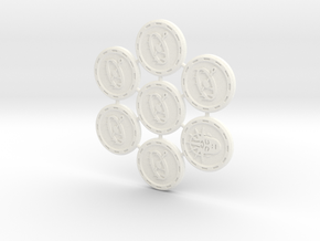 Descent Trap & Insight tokens - TF (7 pcs) in White Strong & Flexible Polished
