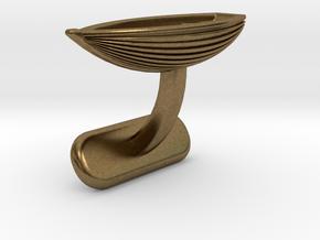 Small Boat Cufflink in Natural Bronze