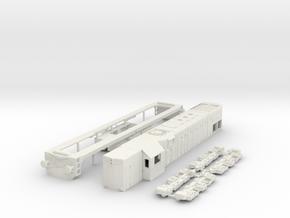 HO scale G22 JZ / SZ 644 locomotive in White Natural Versatile Plastic