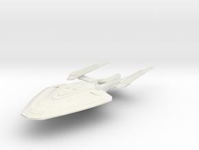 Endeavour Class  BattleCruiser in White Strong & Flexible