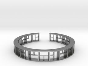 WINDOW Bracelet Medium Size D=60mm in Natural Silver: Medium