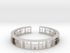 WINDOW Bracelet Medium Size D=60mm in Platinum: Medium