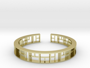 WINDOW Bracelet Medium Size D=60mm in 18k Gold Plated Brass: Medium