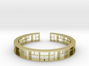 WINDOW Bracelet Medium Size D=60mm in 18k Gold Plated: Medium