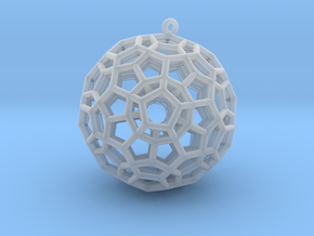 4-Dimensional Dodecahedron pendant in Smooth Fine Detail Plastic