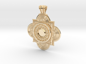 Pendant Solaris in 14k Gold Plated Brass