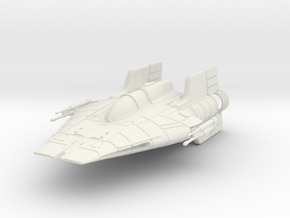 RZ-1 A-Wing in White Strong & Flexible