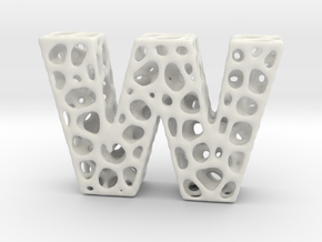 Voronoi Letter ( alphabet ) W in White Strong & Flexible