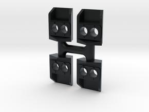 SP Nose Light (Removed Gyralite) - N in Black Hi-Def Acrylate