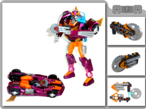 Buzzsaw for Animated Rodimus in White Natural Versatile Plastic