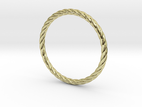 Twist Bracelet 68 in 18k Gold Plated Brass