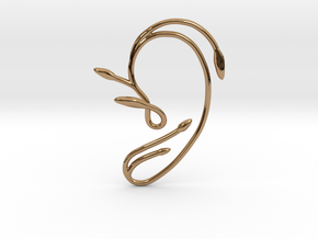 Ear Cuff of Belle (Left Ear) in Polished Brass