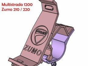 ZUMO 210 Halter Multistrada Lenkerbruecke in Black Natural Versatile Plastic