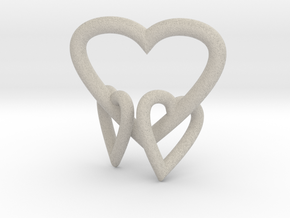 Heart Pendant in Natural Sandstone