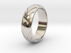 Raban - Racing  Ring in Rhodium Plated Brass: 6.25 / 52.125