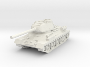 T34-85 USSR tank in White Natural Versatile Plastic