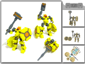 Herald - Hammer Robot in White Strong & Flexible