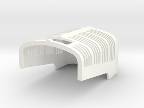 Vintage Tractor Grille in White Strong & Flexible Polished