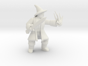General Wizard Mini 2 (Sword and Spell) in White Natural Versatile Plastic