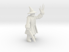General Wizard Mini (Sword and Spell) in White Natural Versatile Plastic