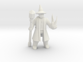 General Wizard Mini (Staff and Spell) in White Strong & Flexible