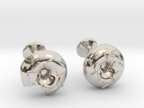 Doughnut Cufflinks in Platinum