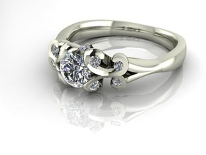 Classic Solitaire 11 NO STONES SUPPLIED in Fine Detail Polished Silver
