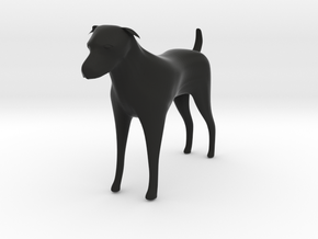 Dog figurine in Black Strong & Flexible
