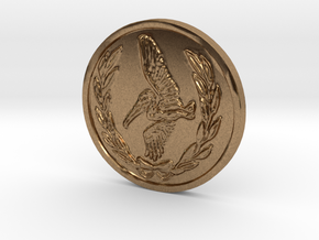 Coin Resident Evil  in Natural Brass