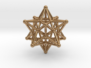 Stellated Dodecahedron -12 Pointed Merkaba in Polished Brass