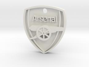Arsenal FC Shield KeyChain in White Natural Versatile Plastic