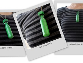 A-bomb Pendant in Green Strong & Flexible Polished