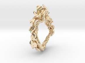 Garden Ring in 14k Gold Plated Brass: 6 / 51.5