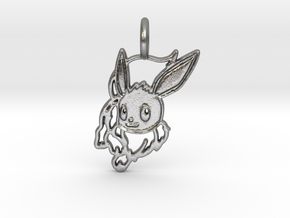Eevee Pendant in Natural Silver