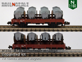 8 Harritschwagen als Ladegut (N 1:160) in Smooth Fine Detail Plastic